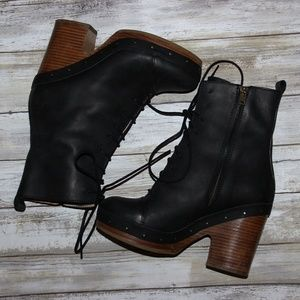 Acne Zapatos  Studios Negro Leather Shank Platform  Botas 37  Platform Poshmark 21288a